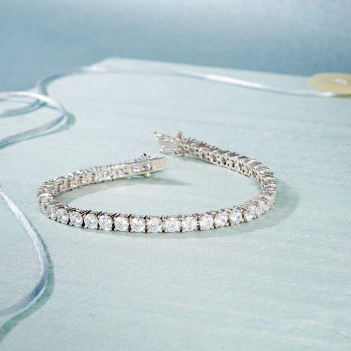 10.00 ct. t.w. CZ Tennis Bracelet in Sterling Silver
