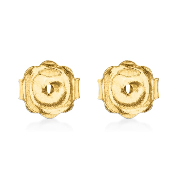 Italian 14kt Yellow Gold Large 7mm Earring Backings