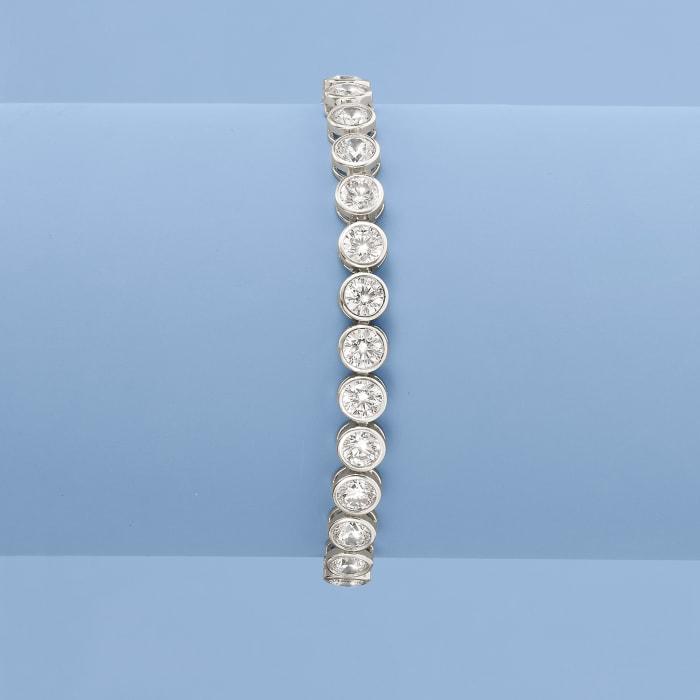 13.50 ct. t.w. CZ Tennis Bracelet in Sterling Silver