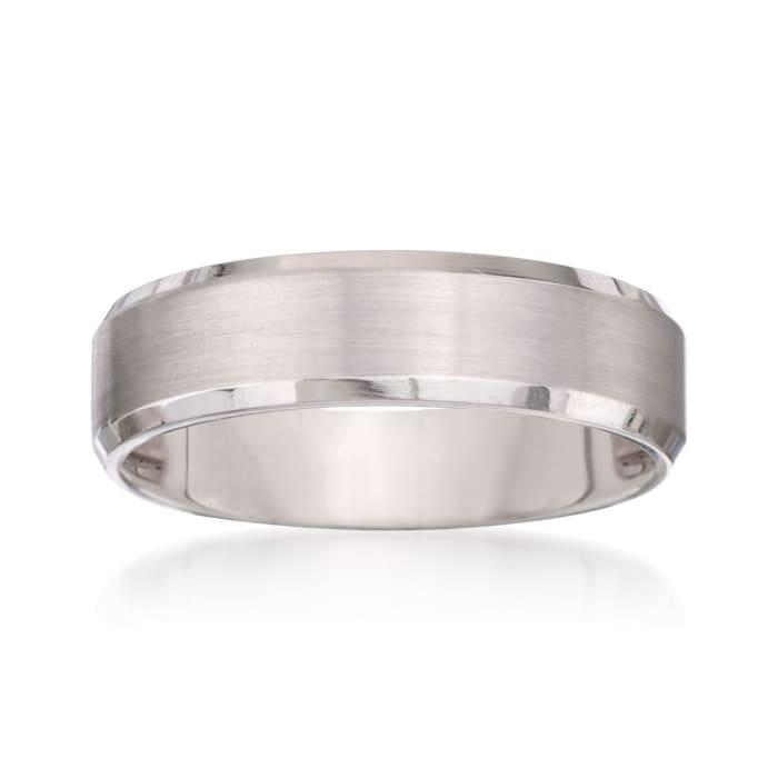 Men's 6mm 14kt White Gold Wedding Ring