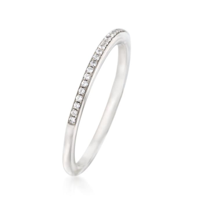 Simon G. .10 ct. t.w. Diamond Wedding Ring in 18kt White Gold