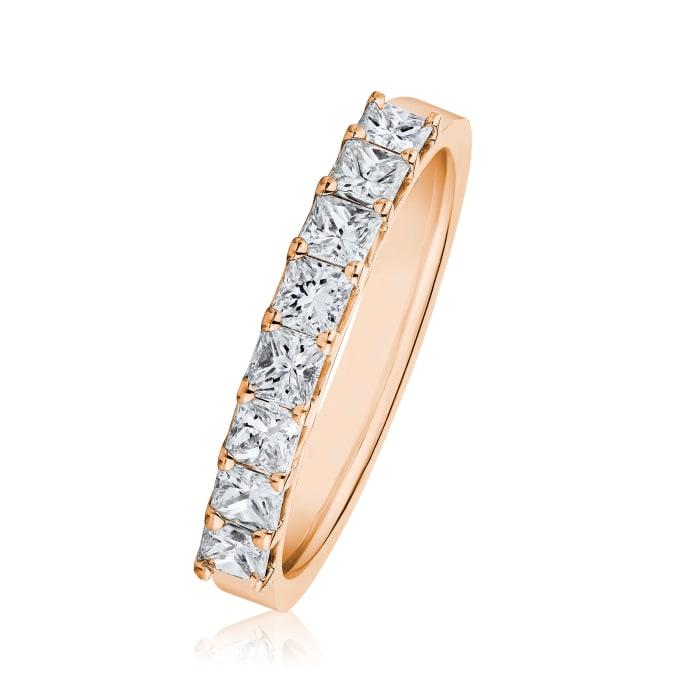 1.20 ct. t.w. Princess-Cut Diamond Ring in 14kt Rose Gold