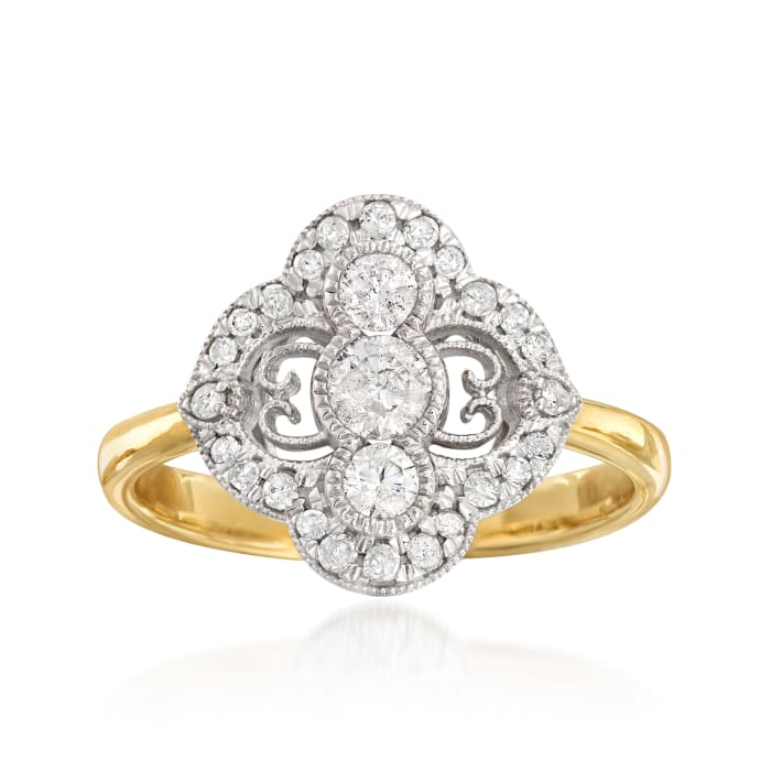 .54 ct. t.w. Diamond Ring in 14kt Two-Tone Gold