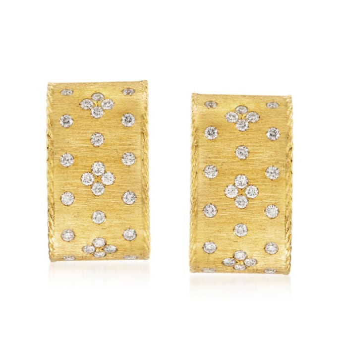 """Roberto Coin """"Princess"""" .70 ct. t.w. Diamond Earrings in 18kt Yellow Gold"""