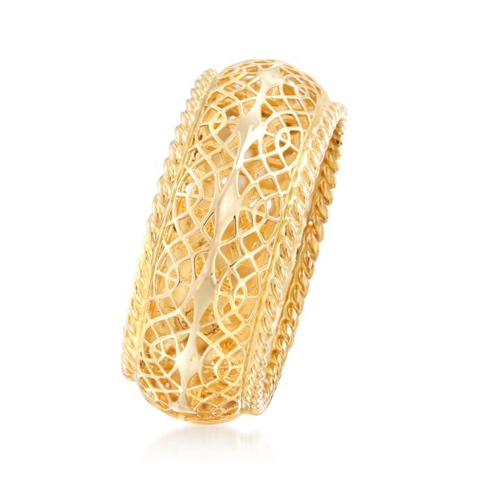 14kt Yellow Gold Openwork Ring