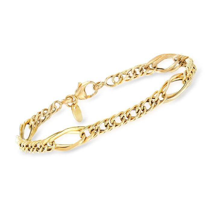 Italian 18kt Yellow Gold Multi-Link Bracelet