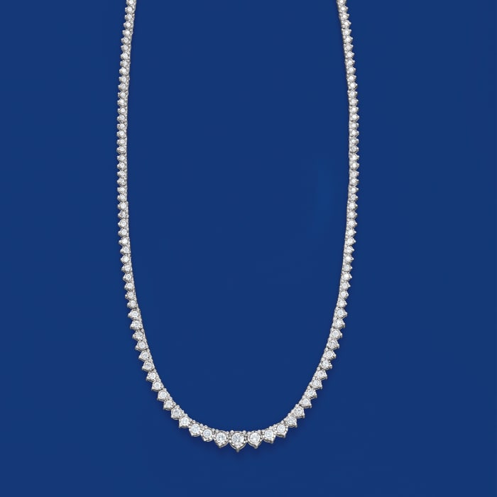 3.00 ct. t.w. Diamond Tennis Necklace in Sterling Silver