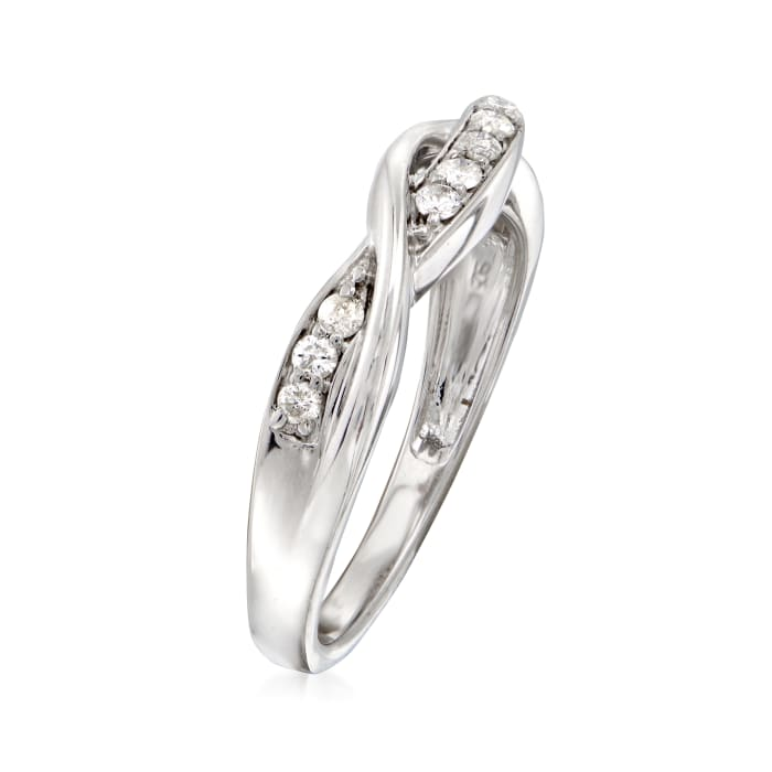 .25 ct. t.w. Diamond Twist Ring in Sterling Silver