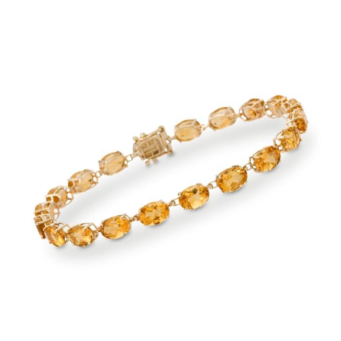 17.00 ct. t.w. Citrine Tennis Bracelet in 14kt Yellow Gold