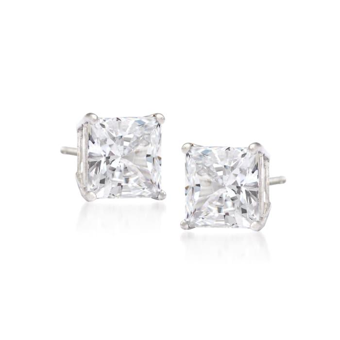 2.00 ct. t.w. Princess-Cut Diamond Stud Earrings in 14kt White Gold