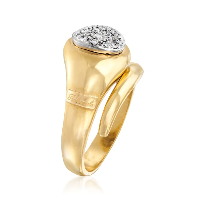 C. 1980 Vintage Palazzolo .24 ct. t.w. Diamond Snake Ring 18kt Yellow Gold