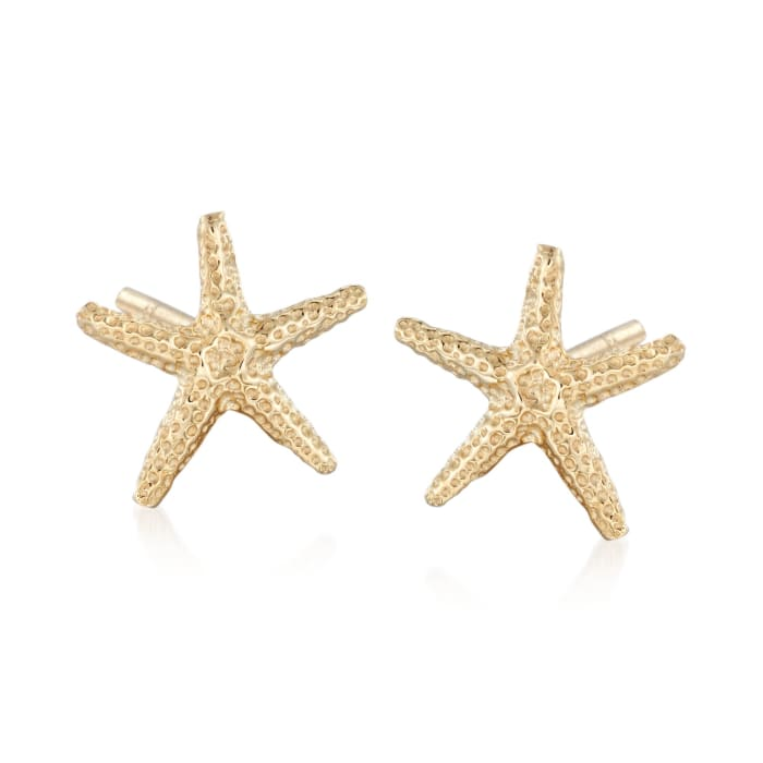14kt Yellow Gold Starfish Stud Earrings