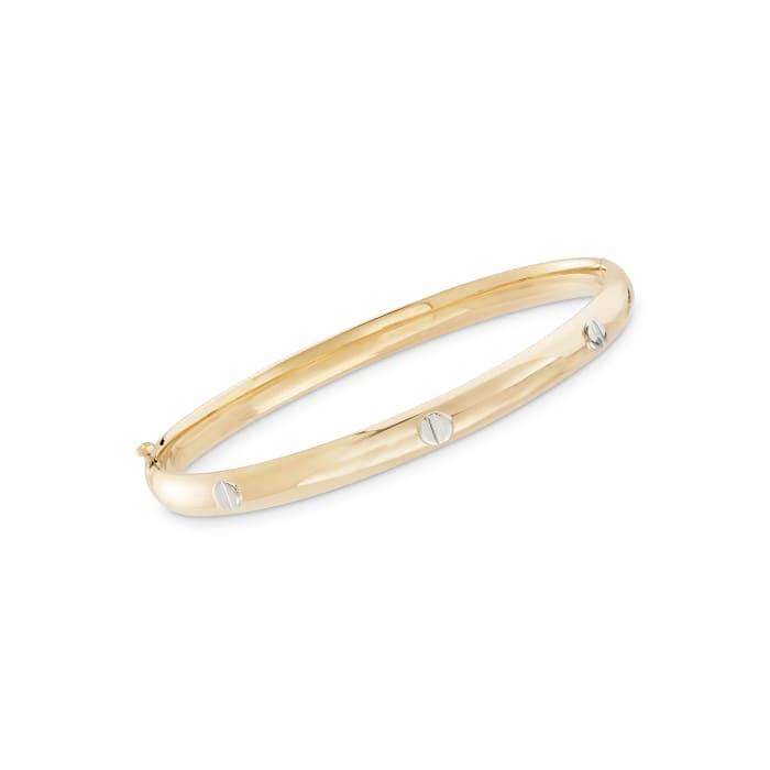 Child's 14kt Two-Tone Gold Bangle Bracelet
