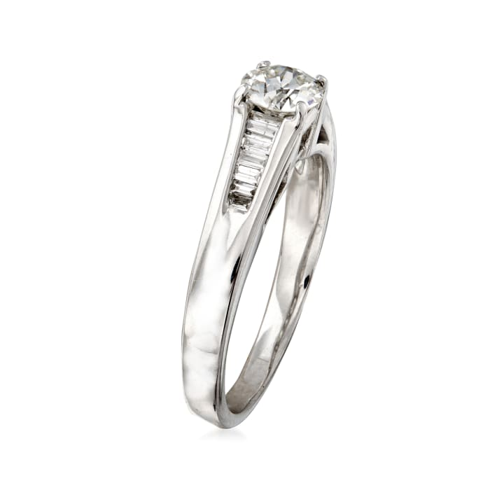 C. 1980 Vintage .85 ct. t.w. Diamond Ring in 18kt White Gold
