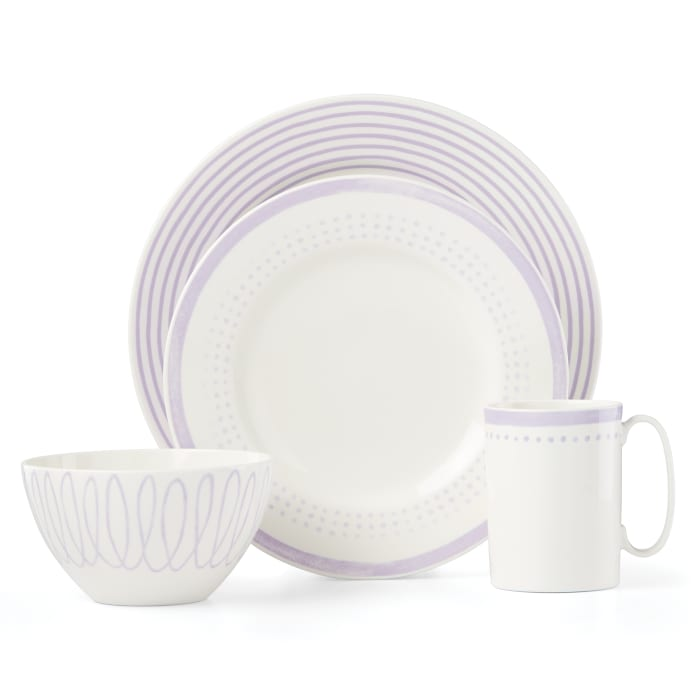 """Kate Spade New York """"Charlotte Street East"""" 4-pc. Lilac Place Setting"""