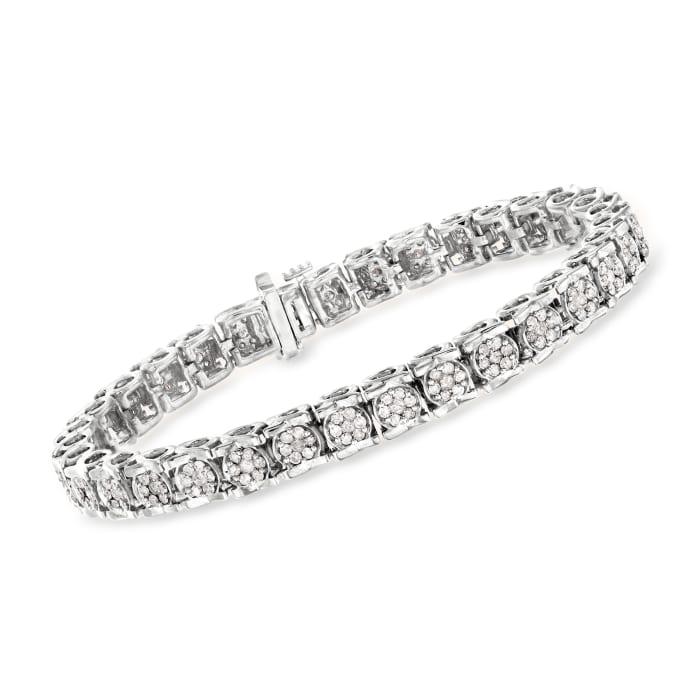 3.00 ct. t.w. Diamond Tennis Bracelet in Sterling Silver