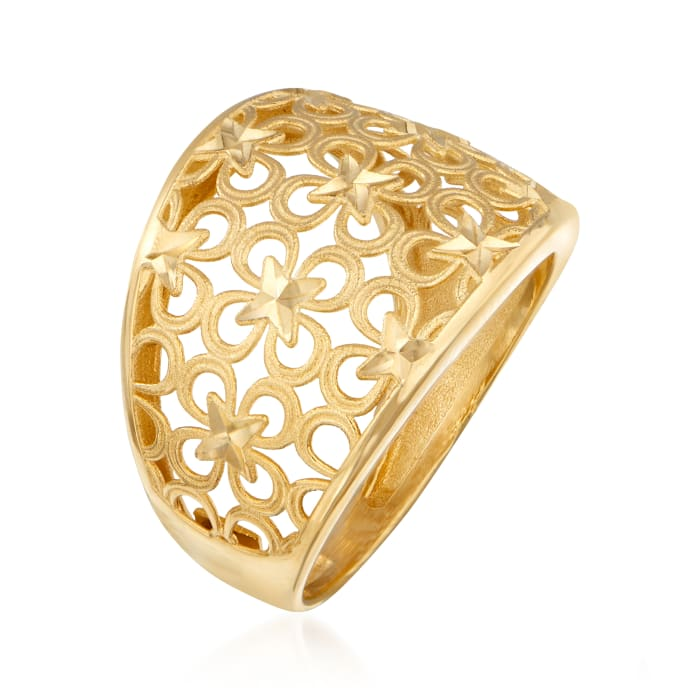 Italian 14kt Yellow Gold Floral Ring