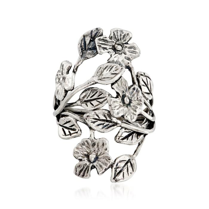 Sterling Silver Leaf Vine Ring