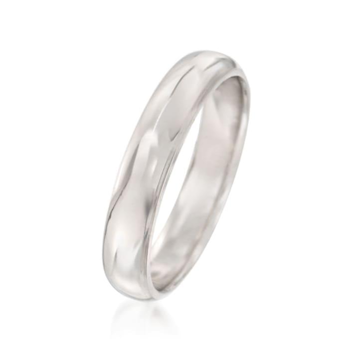 Men's 4mm Platinum Wedding Ring