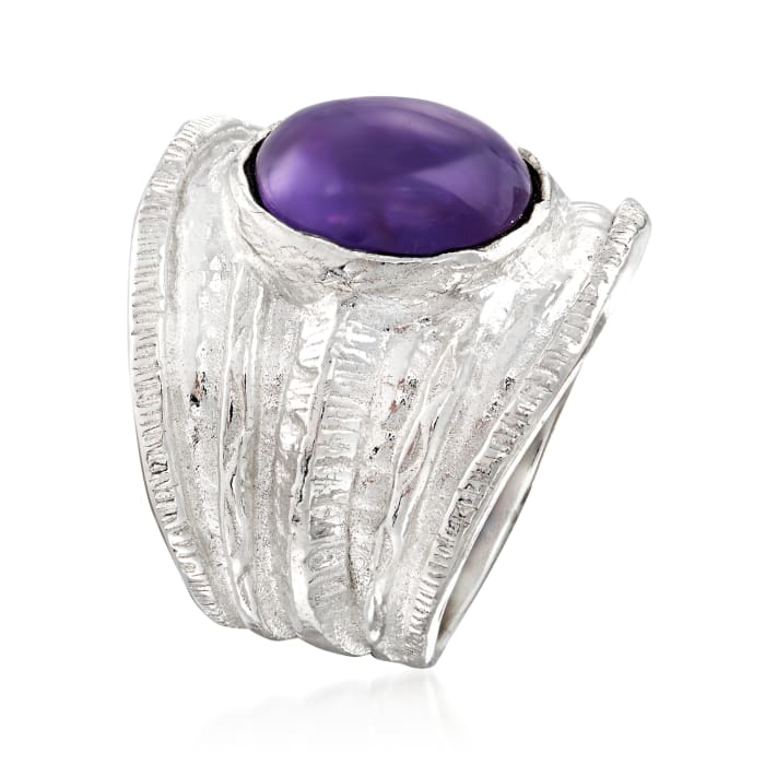 4.00 Carat Amethyst Ring in Sterling Silver