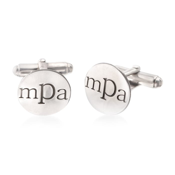 Sterling Silver Lowercase Monogram Cuff Links