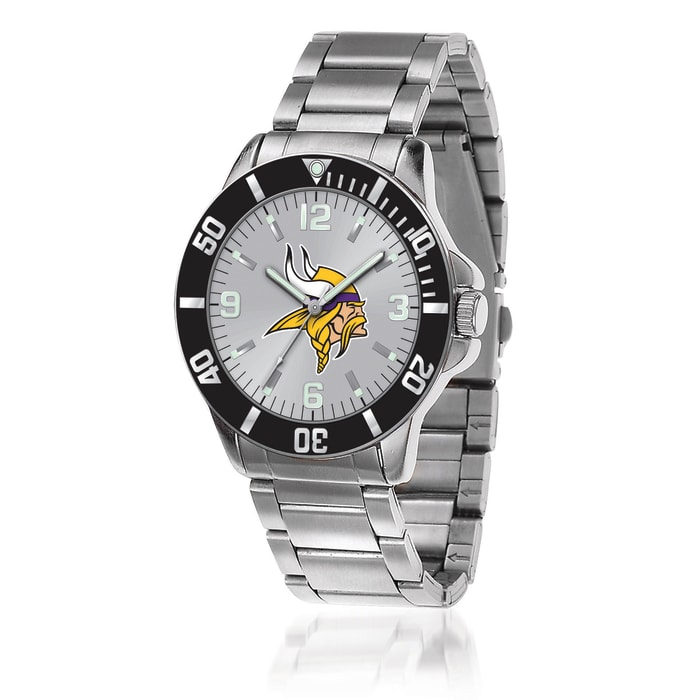 Men's 46mm NFL Minnesota Vikings Stainless Steel Key Watch