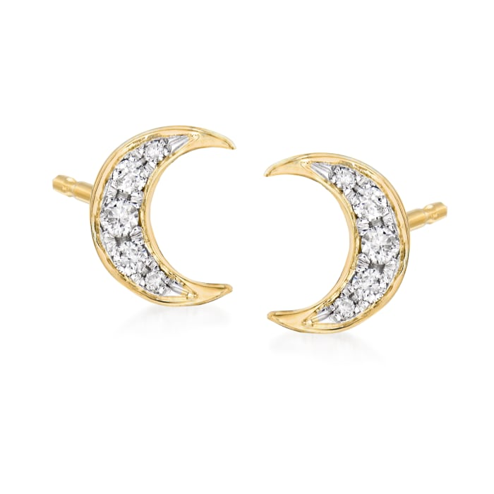 .38 ct. t.w. Diamond Jewelry: Three Pairs of Celestial Stud Earrings in 18kt Gold Over Sterling