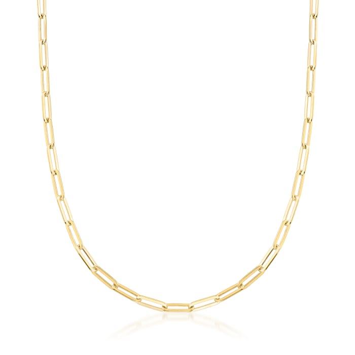 Charles Garnier 18kt Gold Over Sterling Paper Clip Link Necklace