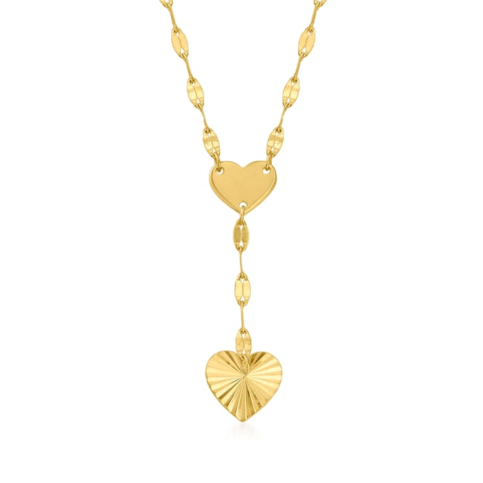 Baby's 14kt Yellow Gold Heart Drop Necklace