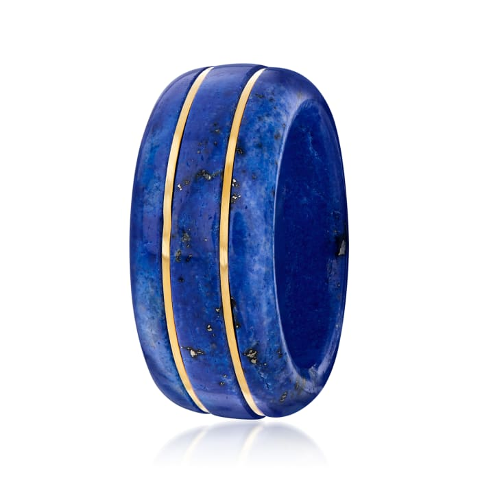 Lapis Ring with 14kt Yellow Gold