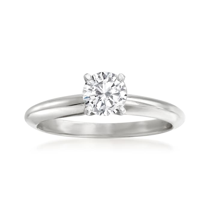 .56 Carat Certified Diamond Solitaire Ring in 14kt White Gold