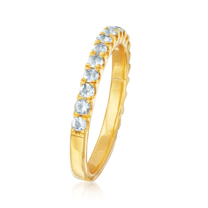 .50 ct. t.w. Aquamarine Ring in 18kt Gold Over Sterling