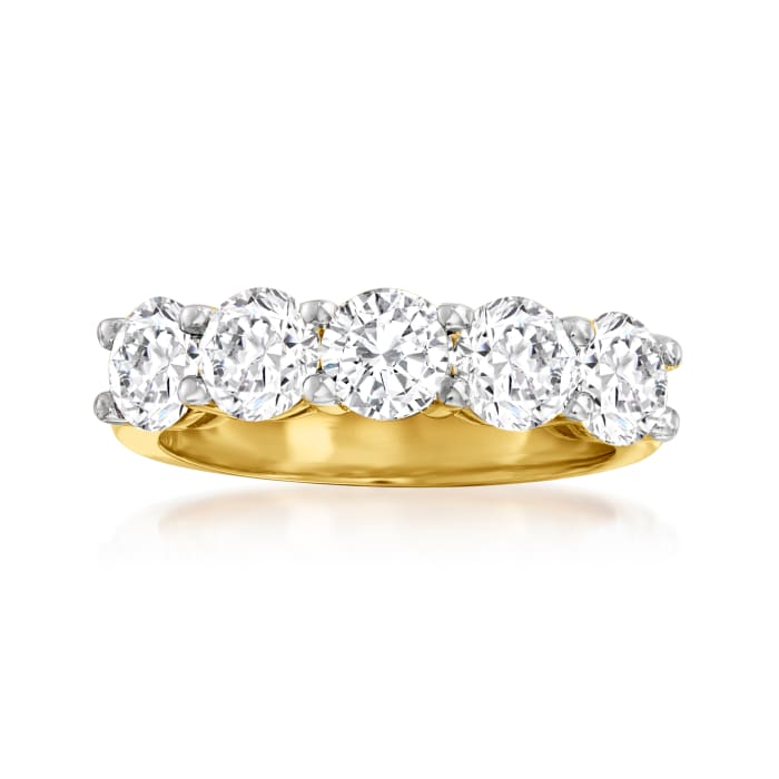 2.50 ct. t.w. Diamond Five-Stone Ring in 14kt Yellow Gold