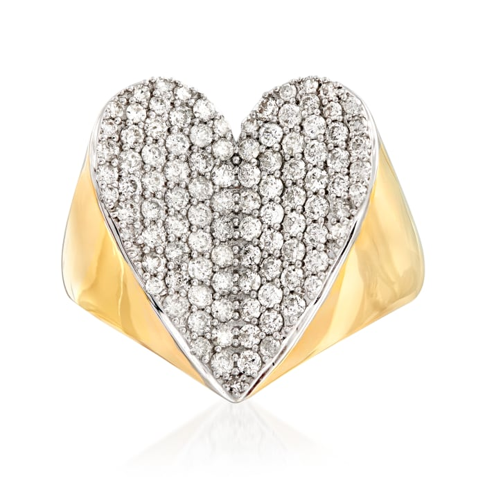 1.00 ct. t.w. Diamond Heart Ring in 14kt Yellow Gold