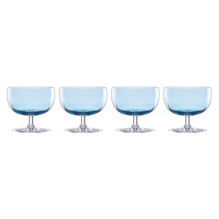 "Lenox ""Valencia"" Set of 4 Blue Cocktail Glasses"