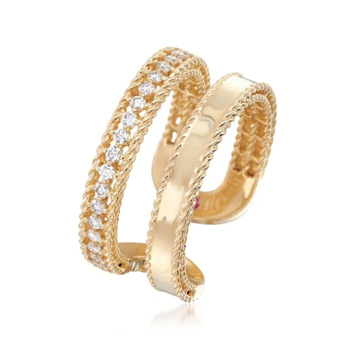 "Roberto Coin ""Symphony Princess"" .30 ct. t.w. Diamond Double Row Ring"