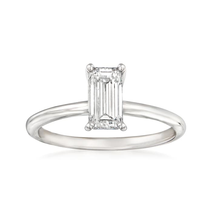 .99 Carat Certified Diamond Solitaire Ring in 18kt White Gold