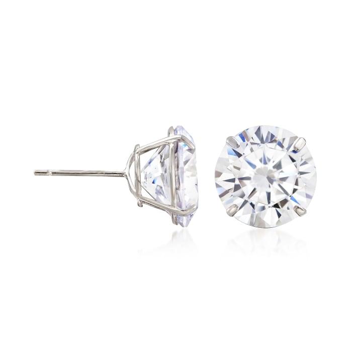 8.00 ct. t.w. CZ Stud Earrings in 14kt White Gold