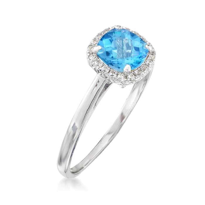 1.20 ct. t.w. Blue and White Topaz Ring Sterling Silver