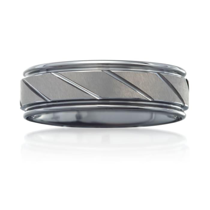 Men's 7mm Tungsten Carbide Wedding Ring