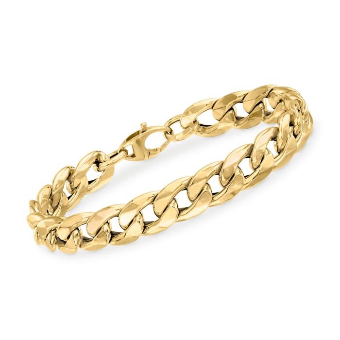 Italian 14kt Yellow Gold Curb-Link Bracelet