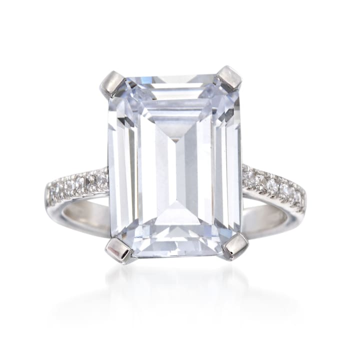 8.20 ct. t.w. CZ Ring in Sterling Silver