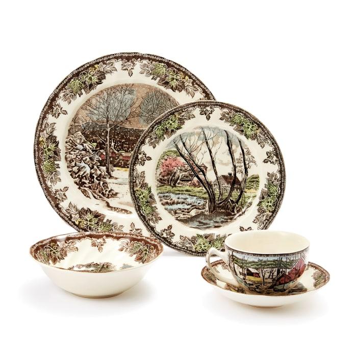 "Johnson Brothers Wedgwood ""Friendly Village"" Earthenware Dinnerware"