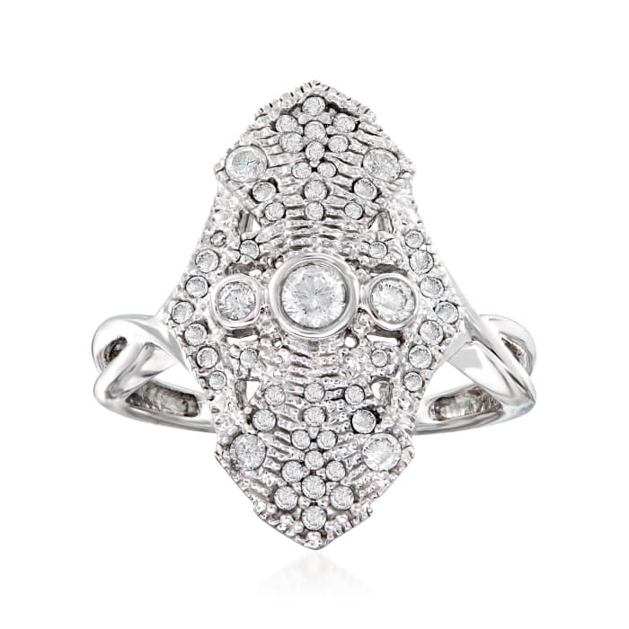 .50 ct. t.w. Diamond Vintage-Style Ring in Sterling Silver