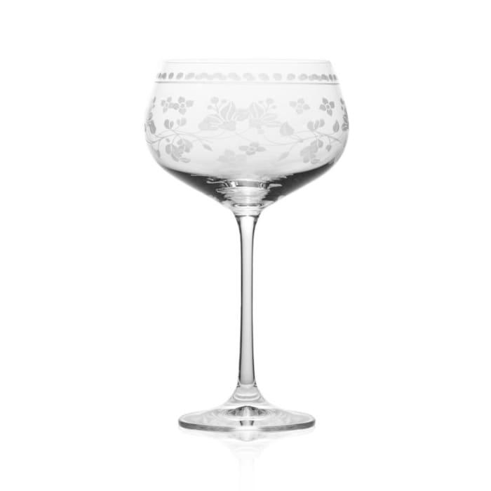 "Mikasa ""Vintage Floral"" Set of 4 Red Wine Glasses"