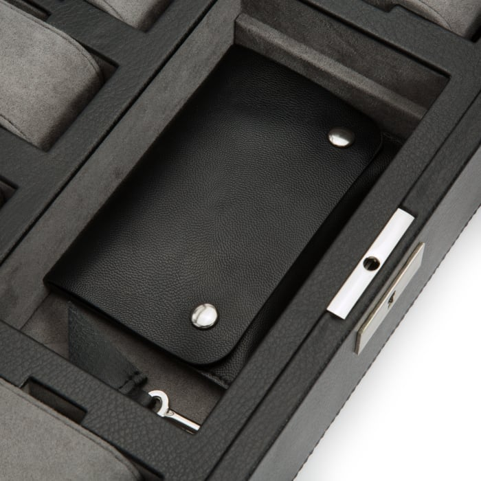 "Wolf ""Howard"" Black Leather Watch Box"