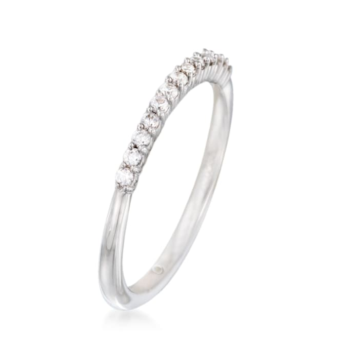 Gabriel Designs .16 ct. t.w. Diamond Wedding Ring in 14kt White Gold