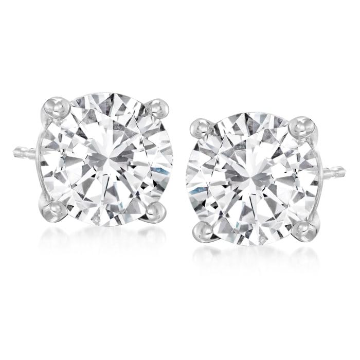 4.75 ct. t.w. Diamond Stud Earrings in 14kt White Gold
