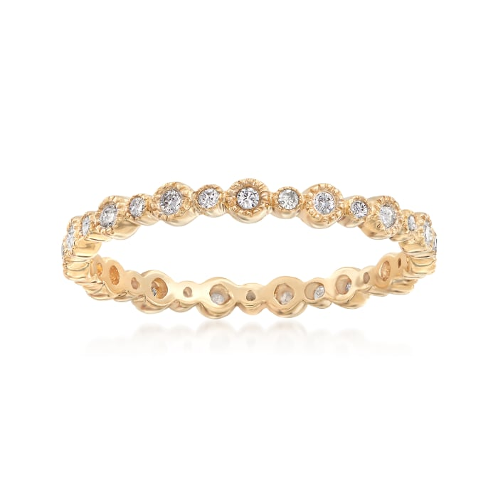 .75 ct. t.w. Diamond Jewelry Set: Three Eternity Bands in 14kt Tri-Colored Gold