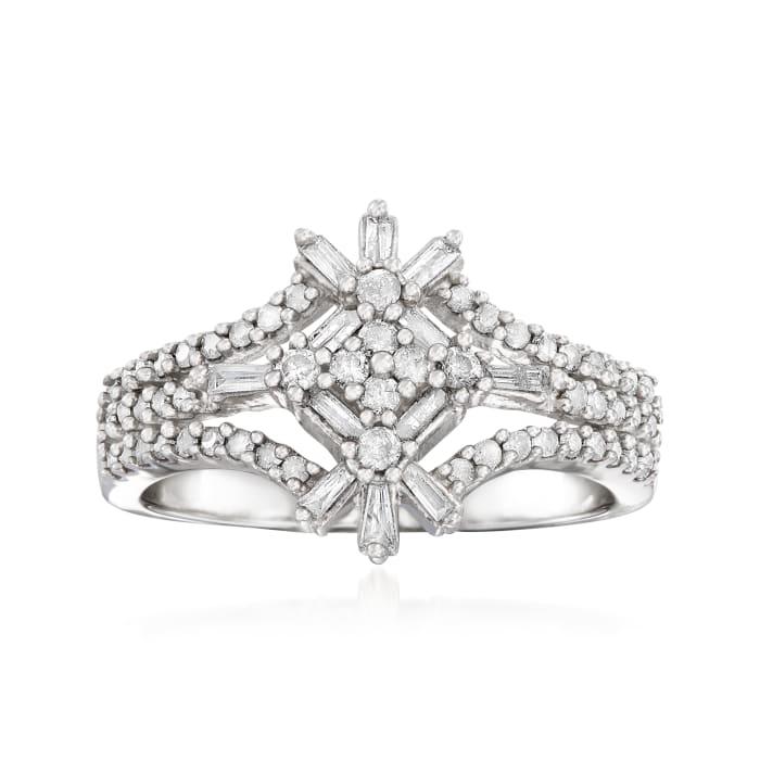 .50 ct. t.w. Diamond Burst Ring in Sterling Silver